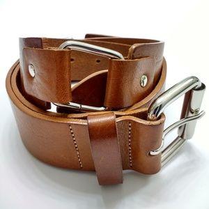 Barneys New York Italian Leather Belt, Large